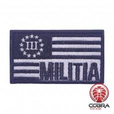 III Militia USA flag Geborduurde motiverende militaire Patch met klittenband