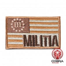 USA flag militia goud Tactical Military Morale Geborduurde motiverende militaire Patch met klittenband