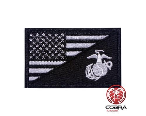 USA Amerikaanse vlag Navy Seals zwart geborduurde militaire patch met klittenband