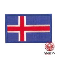 Vlag Iceland  geborduurde patch | Velcro | Military Airsoft
