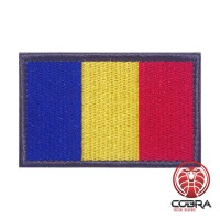 Vlag Roemenië geborduurde patch | Velcro | Military Airsoft