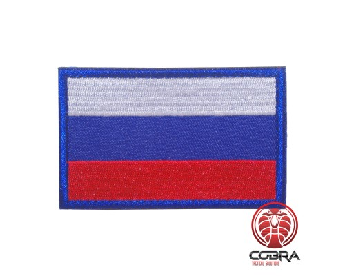 Vlag Rusland met blauw boord geborduurde militaire Patch met klittenband