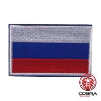 Vlag Rusland met witte boord geborduurde militaire Patch met klittenband