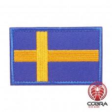Vlag Zweden geborduurde patch met klittenband