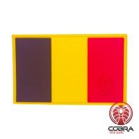 Belgische vlag België PVC Patch met klittenband