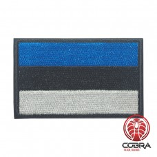 Flag of Estonia Geborduurde militaire Patch met klittenband