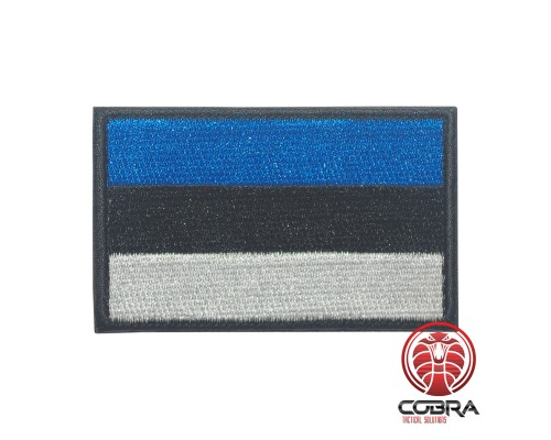 Flag of Estonia Geborduurde militaire Patch met klittenband