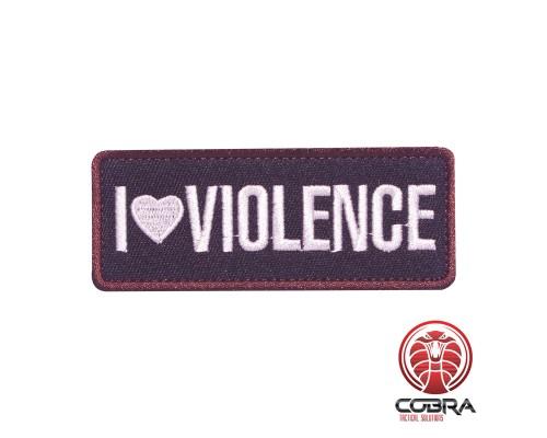 I Love Violence Geborduurde militaire Patch met klittenband