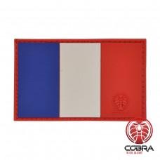 Franse vlag Frankrijk PVC Patch met klittenband
