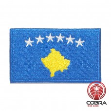 Vlag Republiek Kosovo geborduurde patch | Strijkpatches | Military Airsoft