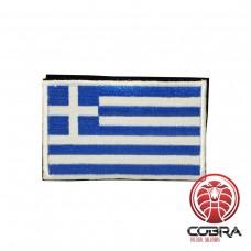 Geborduurde patch vlag Griekenland met klittenband