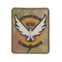 The Division SHD Extremis Malis Extrema Remedia Camo Geborduurde patch met klittenband