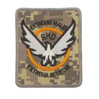 The Division SHD Extremis Malis Extrema Remedia Digital Camo Geborduurde patch met klittenband