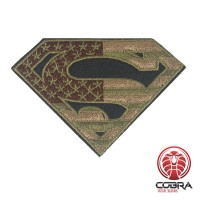 Superman USA groene vlag geborduurde cosplay film patch | Strijkpatches | Military Airsoft