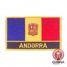 Vlag Andora geborduurde patch | Strijkpatches | Military Airsoft