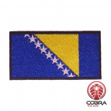 Vlag Bosnia and Herzegovina  geborduurde patch | Strijkpatches | Military Airsoft