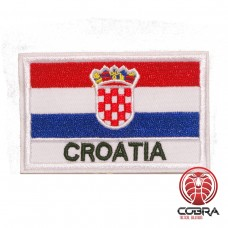 Vlag Kroatië geborduurde patch | Strijkpatches | Military Airsoft