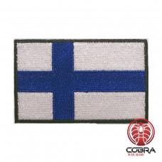 Vlag Finland  geborduurde patch | Strijkpatches | Military Airsoft