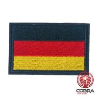 Vlag Duitsland geborduurde patch zwarte boord   Strijkpatches   Military Airsoft