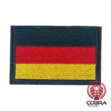 Vlag Duitsland geborduurde patch zwarte boord | Strijkpatches | Military Airsoft
