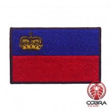 Vlag Liechtenstein  geborduurde patch | Strijkpatches | Military Airsoft