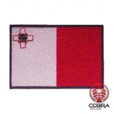 Vlag Malta geborduurde patch | Strijkpatches | Military Airsoft