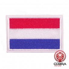 Vlag Nederland geborduurde patch | Strijkpatches | Military Airsoft