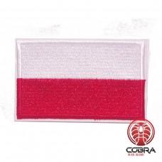 Vlag Polen geborduurde patch | Strijkpatches | Military Airsoft