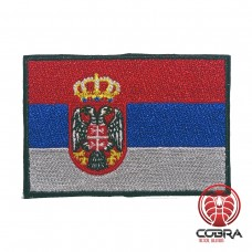 Vlag Serbia  geborduurde patch   Strijkpatches   Military Airsoft