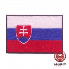 Vlag Slovakije geborduurde patch   Strijkpatches   Military Airsoft
