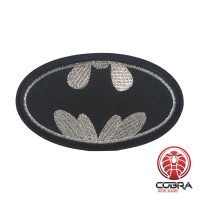 Batman zilveren geborduurde cosplay film patch | Strijkpatches | Military Airsoft