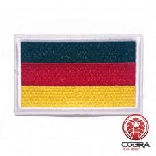 Vlag Duitsland geborduurde patch witte boord | Strijkpatches | Military Airsoft