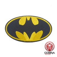 Batman gouden geborduurde cosplay film patch | Strijkpatches | Military Airsoft