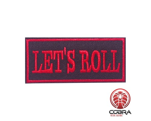 Let's Roll funny motivational geborduurde patch | Strijkpatches | Military Airsoft