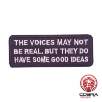 The voices may not be real. But they do have some good ideas geborduurde patch | Strijkpatches | Military Airsoft