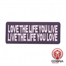 Love the life you live | Live the life you love geborduurde patch | Strijkpatches | Military Airsoft