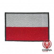 Vlag Polen zwarte boord geborduurde patch | Strijkpatches | Military Airsoft