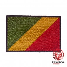 Flag of the Republic of the Congo geborduurde patch | Strijkpatches | Military Airsoft