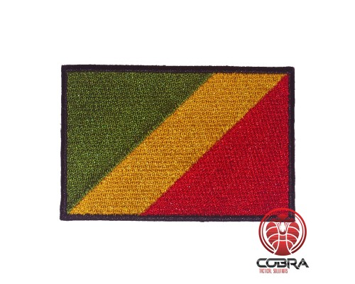 Flag of the Republic of the Congo geborduurde patch   Strijkpatches   Military Airsoft