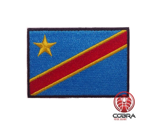 Flag of the Democratic Republic of the Congo geborduurde patch | Strijkpatches | Military Airsoft