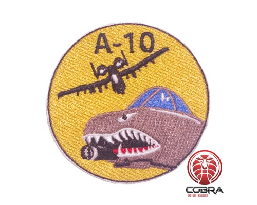 Air Force A-10 Warthog Thunderbolt geborduurde patch | Strijkpatches | Military Airsoft