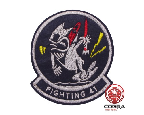 US Navy Tomcat VF-41 Fighting 41 geborduurde patch | Strijkpatches | Military Airsoft