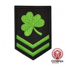 Irish Green Clover geborduurde patch | Strijkpatches | Military Airsoft
