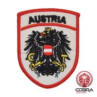 Wapenschild van het land Oostenrijk geborduurde patch | Strijkpatches | Military Airsoft