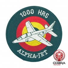 Belgian Air Force 1000 HRS ALPHA-JET aviation geborduurde patch | Strijkpatches | Military Airsoft