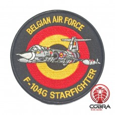 Belgian Air Force F-104G Starfighter aviation geborduurde patch | Strijkpatches | Military Airsoft