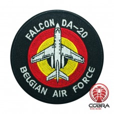 Belgian Air Force FALCON DA-20 aviation geborduurde patch | Strijkpatches | Military Airsoft