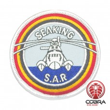 Belgian Air Force Seaking S.A.R. aviation geborduurde patch | Strijkpatches | Military Airsoft