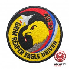 493rd Fighter Squadron Grim Reaper Eagle Driver patch aviation geborduurde patch | Strijkpatches | Military Airsoft