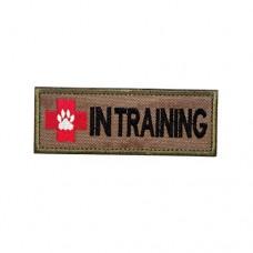 K9 Dog In Training Geborduurde bruine patch met klittenband